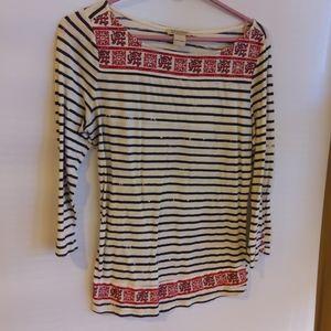 4/$25 Lucky Brand striped Shirt L